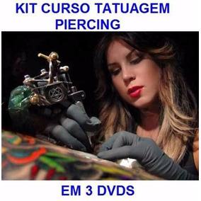 Curso De Piercing + Tatuagem - Aulas Em 3 Dvds