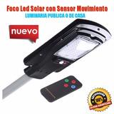 Foco Led 30w Solar Luminaria Pública Sensor Movimiento