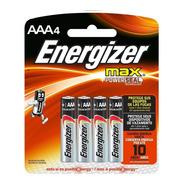 4 Pilas Aaa Energizer Alcalinas 1.5v E92 P/ Control Remoto