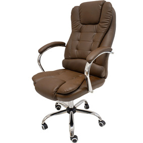 Cadeira Escritorio Presidente Giratória Cor Café Sist/ Relax