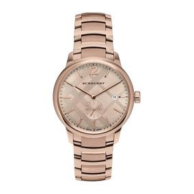 Reloj Burberry Classic Round Mens Watch Rose Gold Bu10013