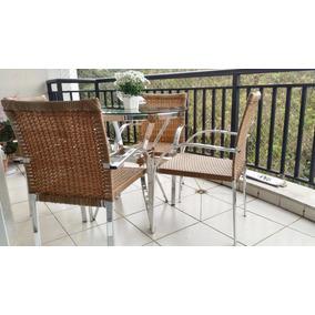 Jogo Conjunto De Mesa 4 Cadeiras Jardim Varanda Sacada Area