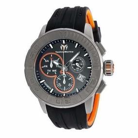 Reloj Technomarine Tm-515001 Silicona Color Negro Hombre