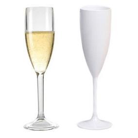 100 Taças Champagne Acrílico