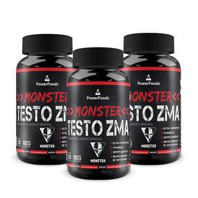 Testosterona Turbo - 3 X Monster Testo Zma - Frete Grátis!