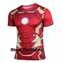 Camisa Vingadores Iron Man Blusa Homem Ferro Pronta Entrega