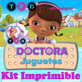 Kit Imprimible Doctora Juguetes Datos Editables Fiesta Invit