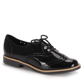 Sapato Oxford Conforto Feminino Beira Rio - Preto