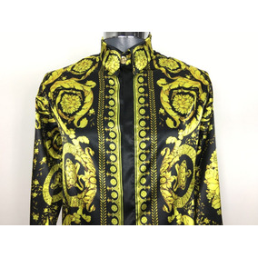 Camisa Versace Para Hombre, Gianni Versace Camisa De Seda