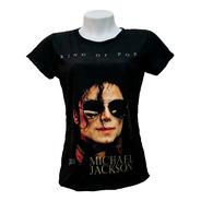 Baby-look Feminino Michael Jackson - King Of Pop