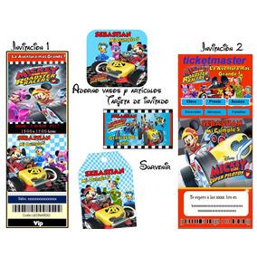 Kit Imprimible Mickey Aventuras Sobree Ruedas Editable