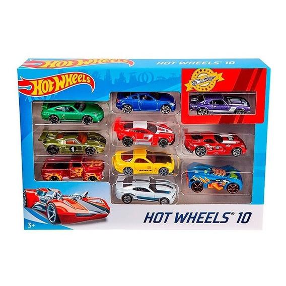 Hot Wheels Pack X10 Coleccion Autos Surtidos - Mattel E.full