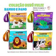 Coleção Com 4 Livros De Pano Para Bebês - Bebê Feliz