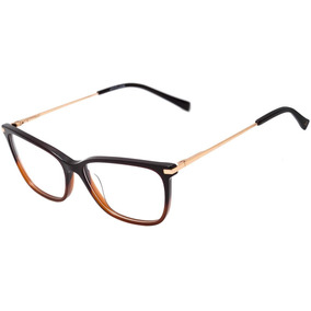 45b3a5393a75c Oculos Atitude Feminino Degrade - Óculos De Grau no Mercado Livre Brasil