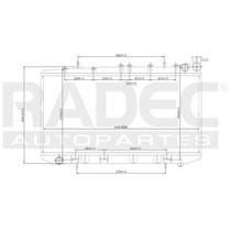 Radiador Nissan Tsuru Iii 1990-1991-1992 L4 1.6/1.8/2.0l Std