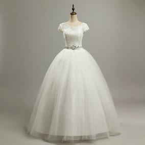 Vestido Noiva Princesa N5 Pronta Entrega Lindo + Véu Brinde