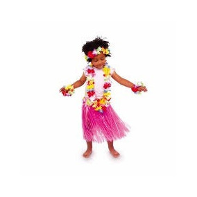 Disfraz Hawaiano Falda+collar+corona+pulseras