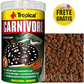 Ração Tropical Carnivore 600g - Peixes Carnívoros & Cascudos