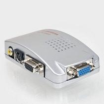 Conversor Vga P/ Rca + S-video Tv Telão Projetor Pc Notebook
