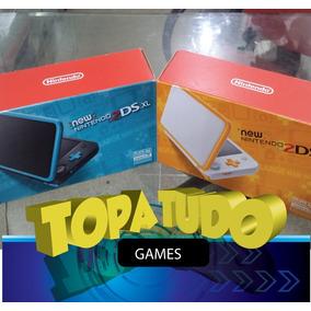 New Nintendo 2ds Xl Desbloqueado 32gb + Jogos Destravado