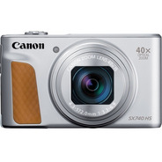 Câmera Canon Powershot Sx740 Hs Prata 40x 20.3mp 12x S/juros