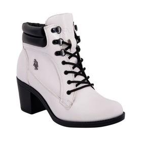 Bota Corta Botin Blanco Para Dama Marca Hpc Polo Hermosas