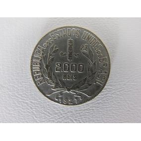 Moeda Antiga 2000 Réis 1927 Prata Mbc Frete Grátis