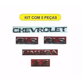 Kit Emblemas Omega+chevrolet+gls+2.2 Moderno 5 Peças,