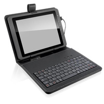 Teclado Mini Para Tablet Com Capa 10.1 Polegadas Couro Sli