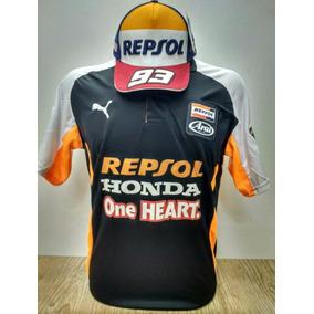 Camisa Camiseta Polo Honda Repsol Moto Gp + Bone+chaveiro