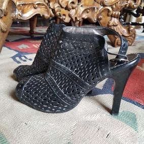 Bonitas Zapatillas De Dama De Piel Finas Negras