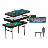 Mesa De Juego 3 En 1 ,ping-pong, Pool, Air Hockey