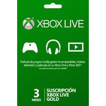 °° Tarjeta De 3 Meses Xbox Live Gold °° En Bnkshop