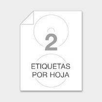 Etiquetas Adhesivas Para Cd Y Dvd Paq De 1 X10 Blancas