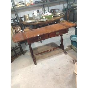 escritorio estilo ingls tapa de cuero