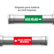 Señalamiento Etiquetas Adhesivas Identificación De Tuberías