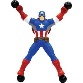 Boneco Stick Hero Avengers Capitao America Candide