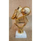 Trofeo Plástico Fútbol Arco Pelota Botin - Souvenir