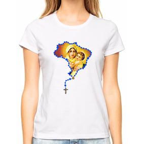 Babylook Blusa Feminina Virgem Maria Mãe De Deus Gospel M02