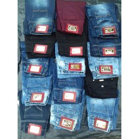 Lote Com 10 Calças Jeans Feminina Marca Pitt Bull.