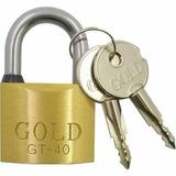 Cadeado Gold Tetra 40mm 02 Chaves Melhor Preço