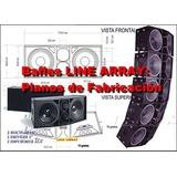 20 Planos De Bafles Line Array Profesionales