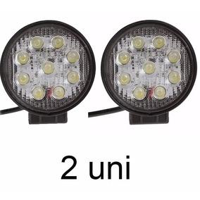 2 Farol Milha Redondo 27w 9 Leds Jeep Troller 12v Universal