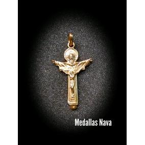 Cruz Oro 14k Dios Padre Hijo Y Espíritu Santo M1402