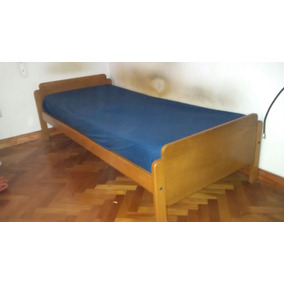 Cama De Una Plaza De Roble. Perfecto Estado