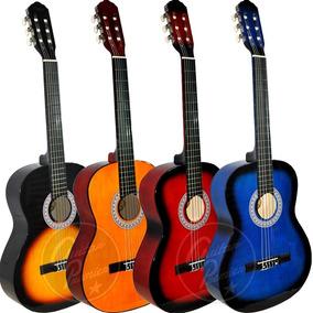 Guitarra Criolla Clasica Colores Superior + Funda + Pua Pack