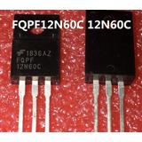 2 Piezas Transistor Fqpf12n60c 12n60