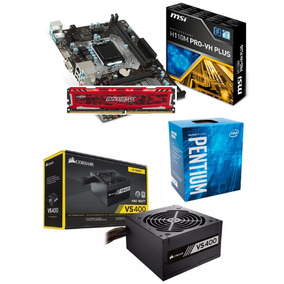 Kit Mb Msi + Pentium G4560 + 4gb Ddr4 2400mhz + Fonte Vs400