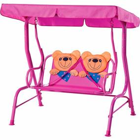 Cadeira De Balanço Jardim Parque Infantil Ursinho 2 Lugares