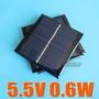 Kit Placa Solar 5.5v + Regulador Usb, Painel Solar- Célula
